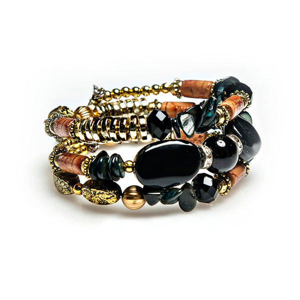 jess coiled stack in black