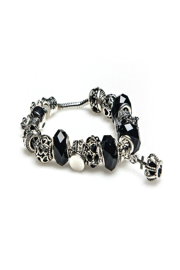 delilah charm bracelet in black crown