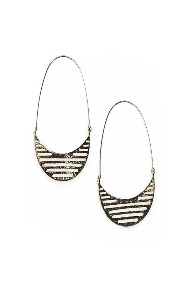 gabriella ladder hoops in gold