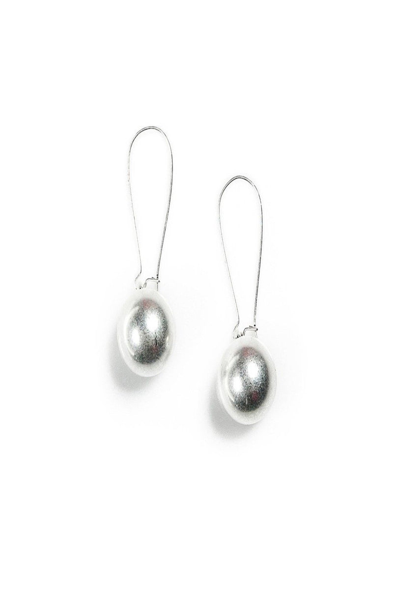 natalie silver bulb earrings