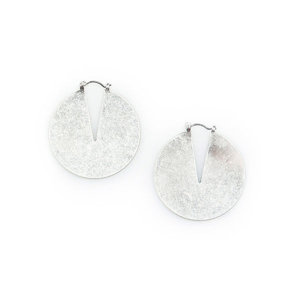 melody sandstone silver cutout earrings