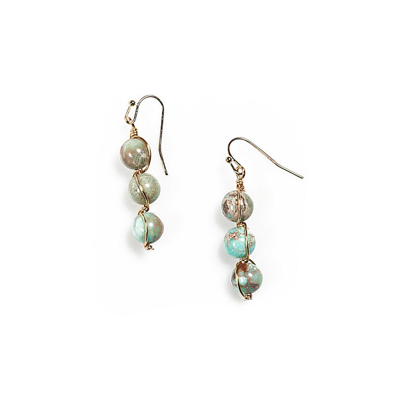 paige semi-precious bead earrings | 5 styles