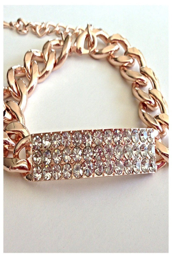 Luxe Pave Bar Chain Bracelet