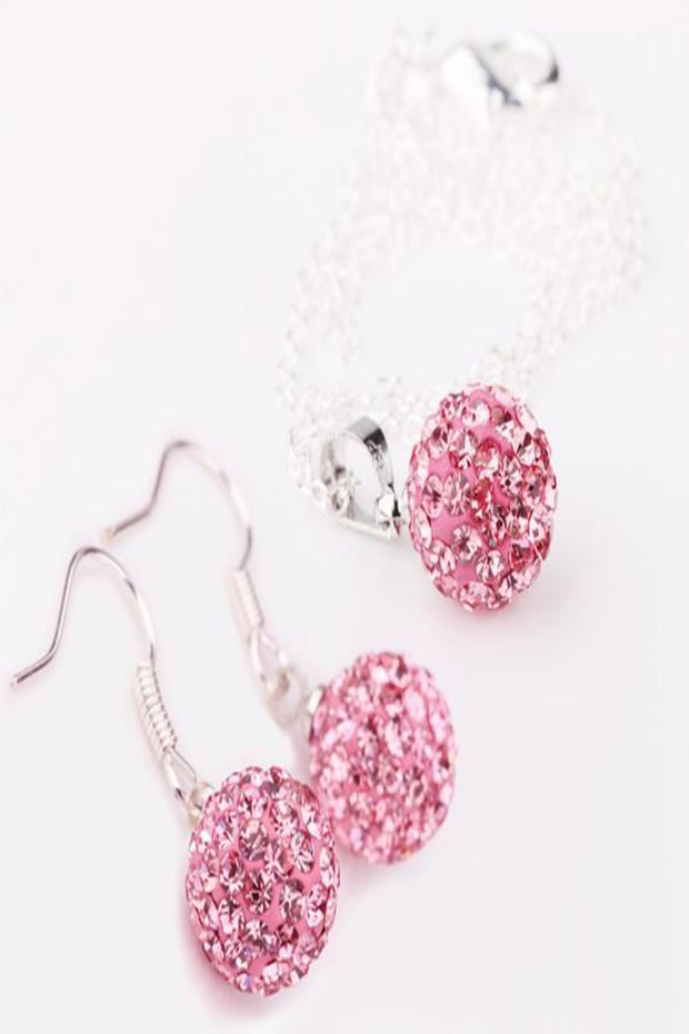 shamballa earring and necklace set