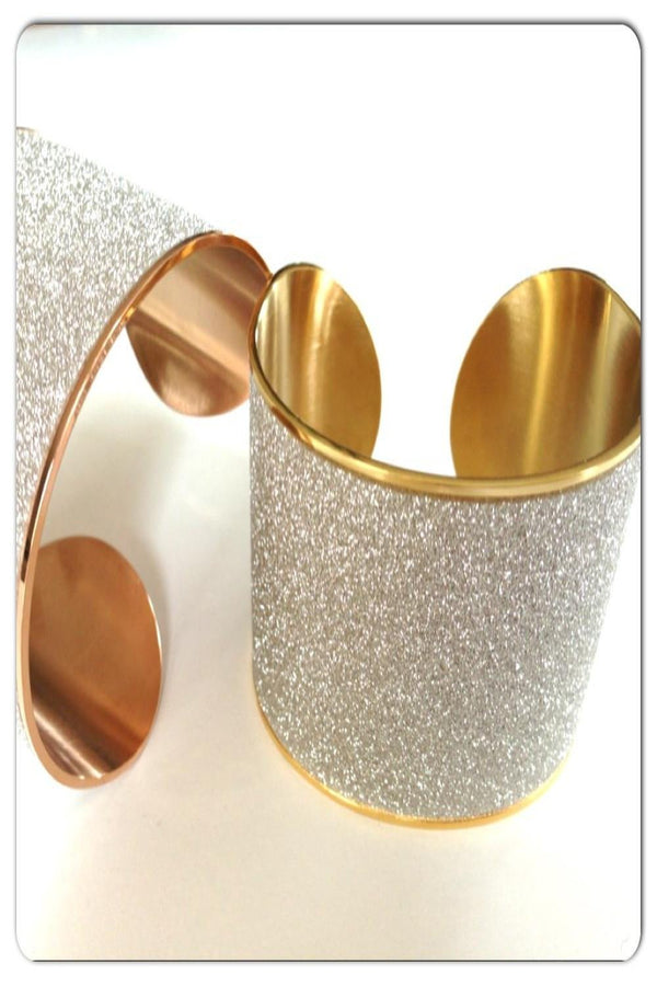 Stainless Steel Sparkle Cuff