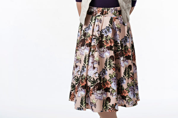 Pleated Floral Bell Skirt | 2 colors