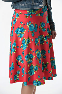 Floral Knee Length Skirt | 2 colors