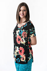 Floral Print Stretch Top | 3 colors