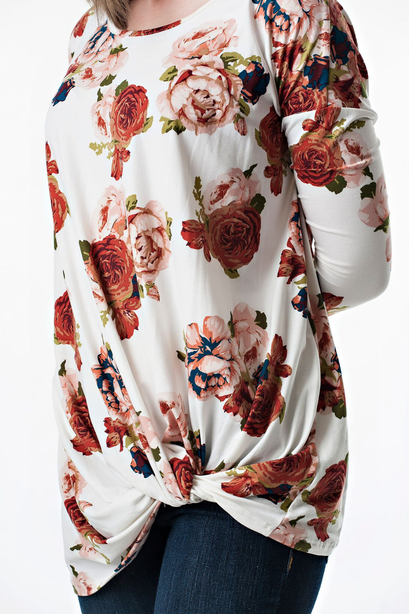 Knot Floral Tunic Top | 3 colors