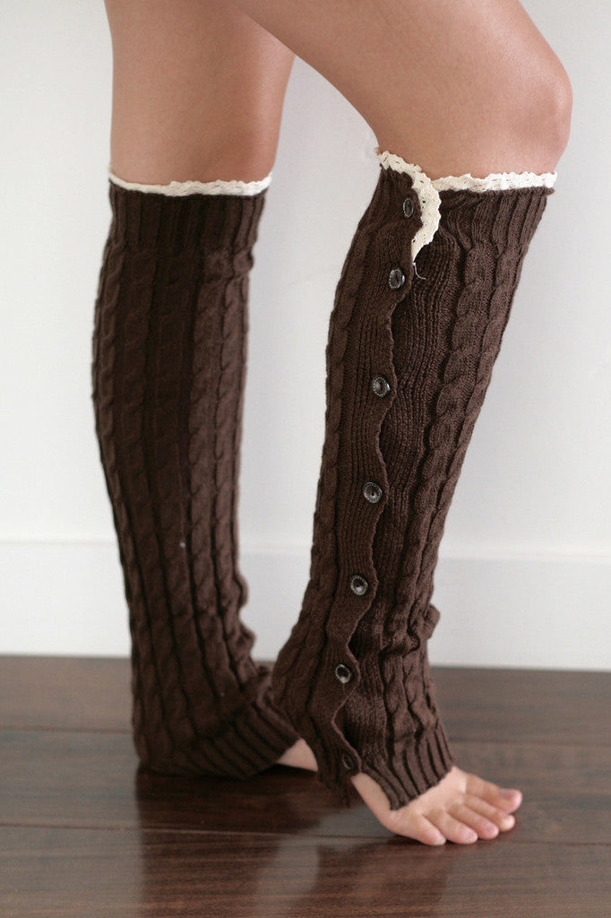 Cable Knit Boot Socks Leg Warmers