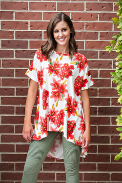 Wide Criss Cross Back Floral Tunic | 3 colors