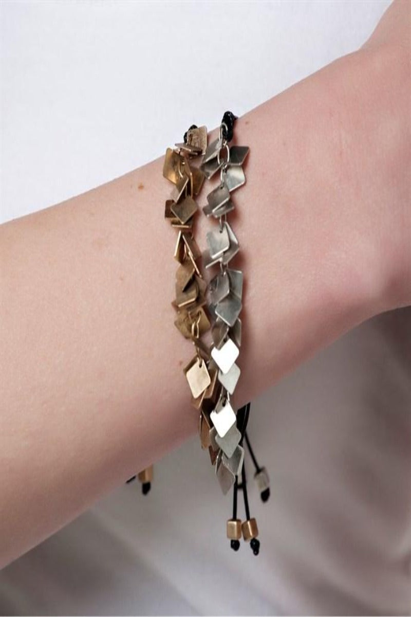 Dainty Discs Adjustable Bracelet
