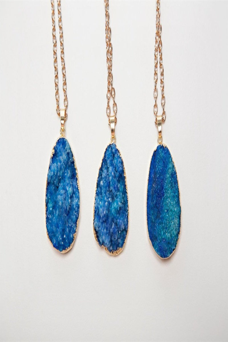 Colorful Druzy Stone Necklaces