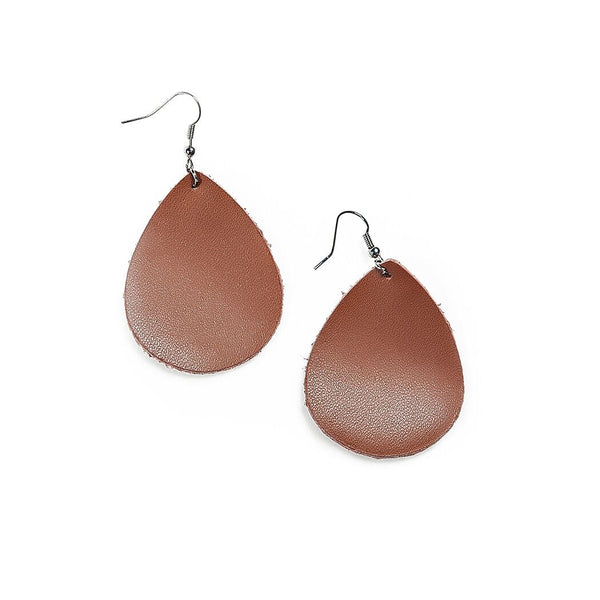 grace drop earrings in brown