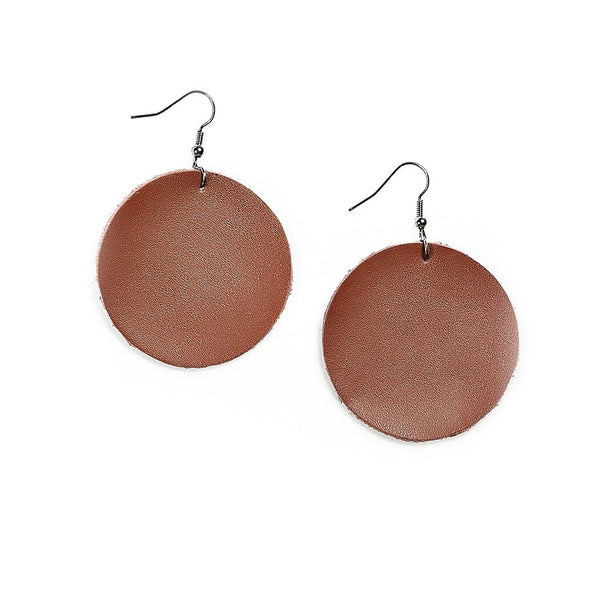 piper circle earrings in brown
