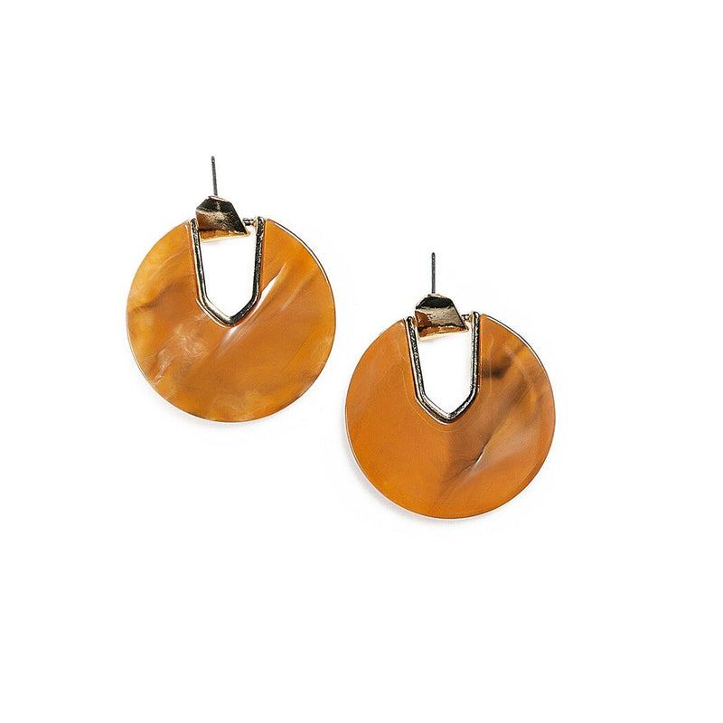 vera drop hoops in apricot