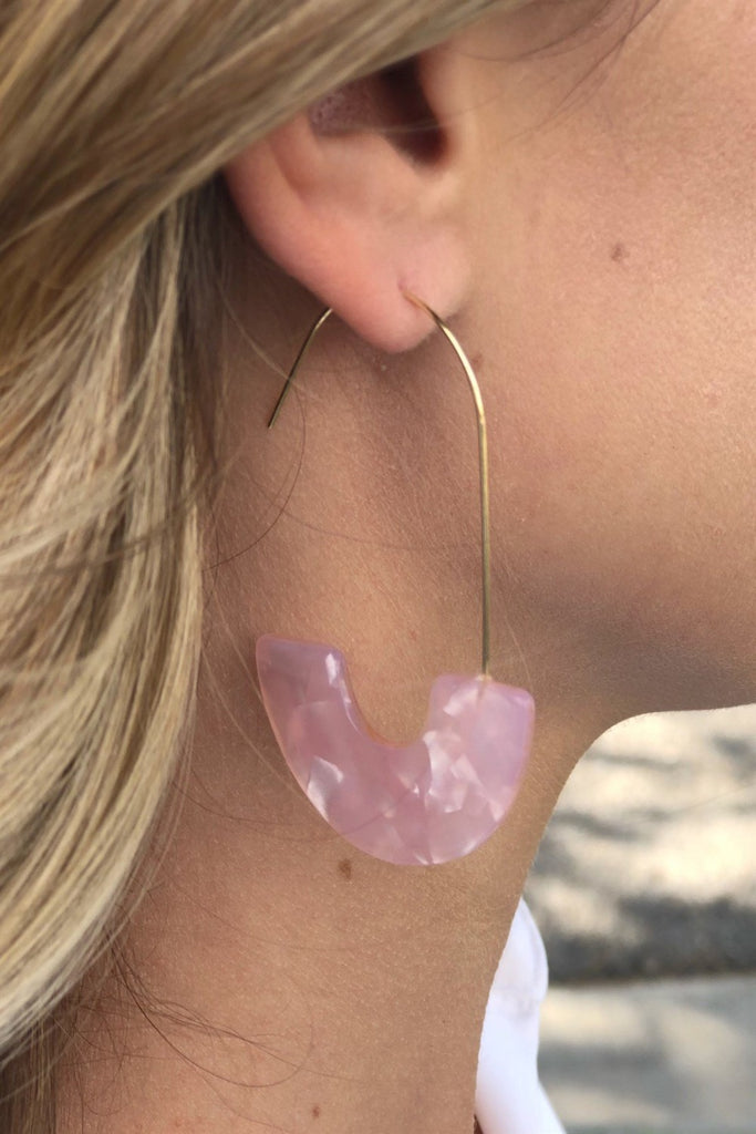Enamel Watercolor Earrings