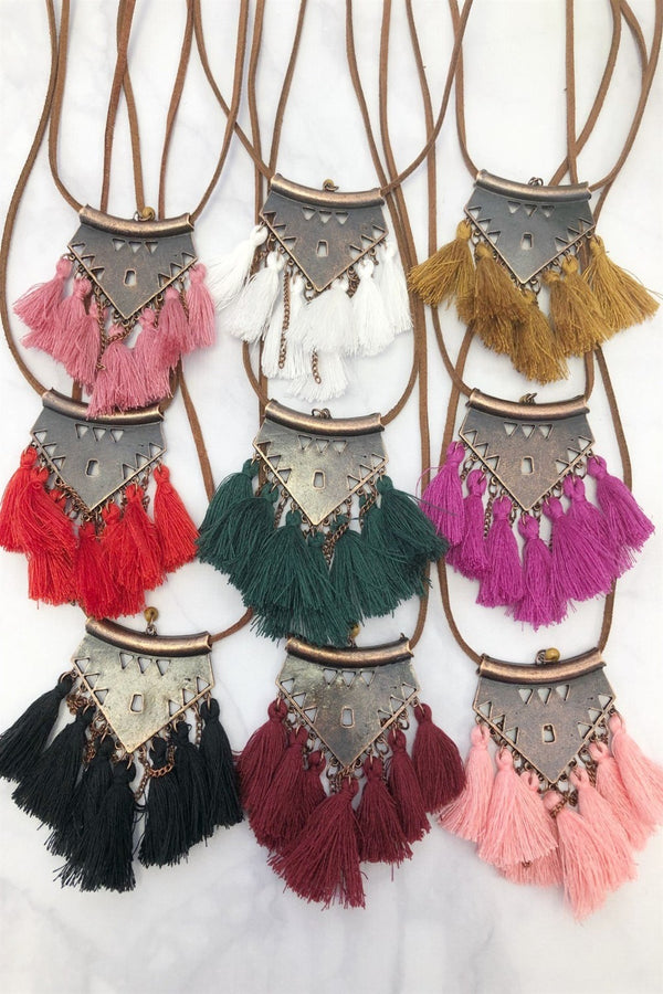 Fall Fringe Necklaces