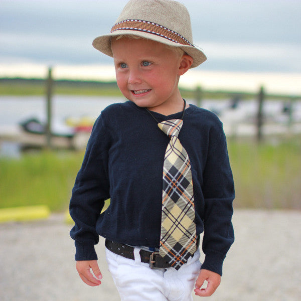 Little Boys Fedora Hat and Tie Set
