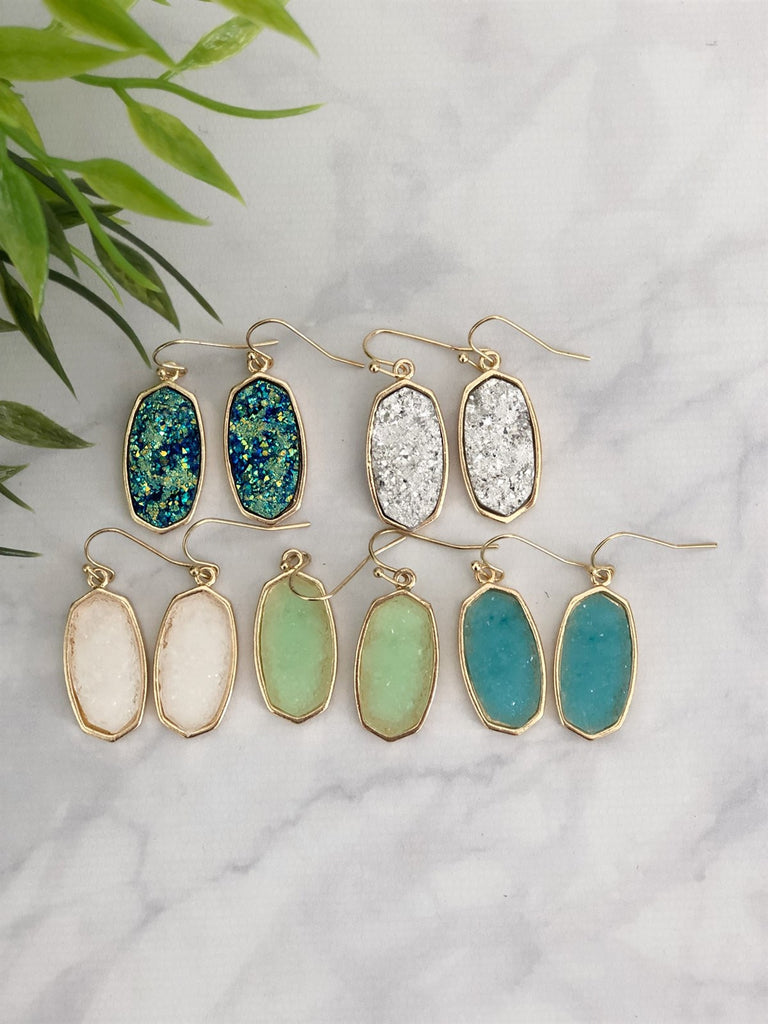 Glitter Drop Earrings