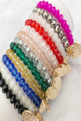 Crystal Bead Stretch Bracelets