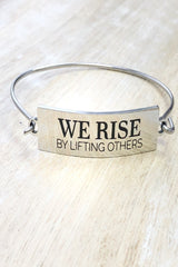 Inspire Me- Inspirational Stamped Steel Hinged Bangle Bracelets