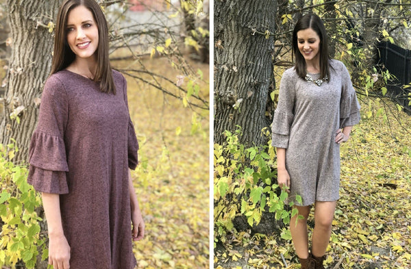 Giselle Heathered Knit Dress - 3 Colors!