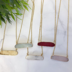 Horizontal Rock Bar Necklace