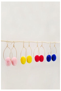 Pom Earrings