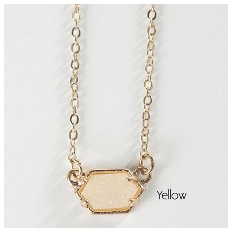 Short Stone Necklace | 8 Colors