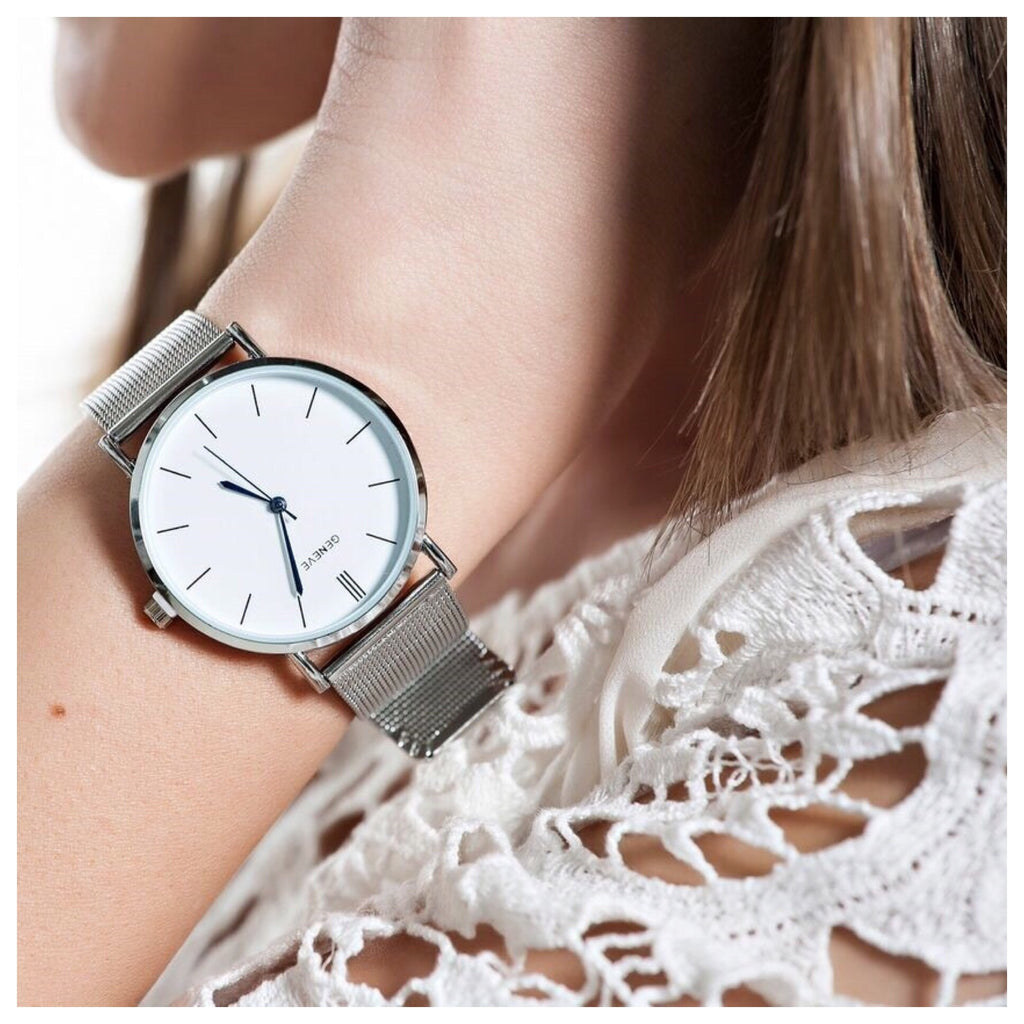 Minimalist Metal Mesh Watch
