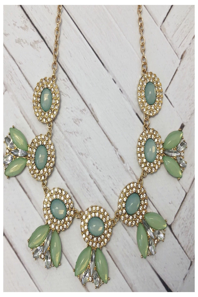 Spring Green Mermaid Tail Necklace