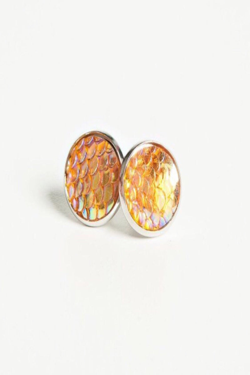 Mermaid Scales Stud Earrings