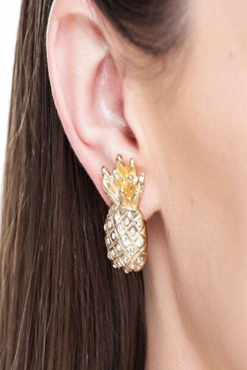 Pineapple Earrings | 2 Colors