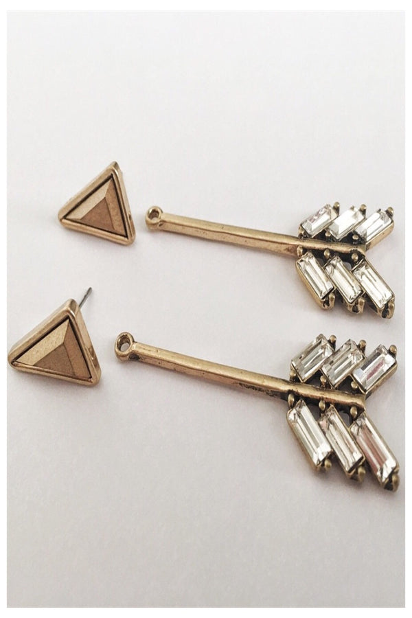 Arrow Earrings with Post Jacket