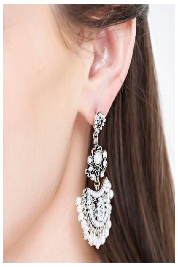 Pearl Accented Drop Earrings