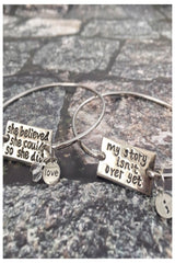 Stackable Wire Bracelets with Inspiring Phrase