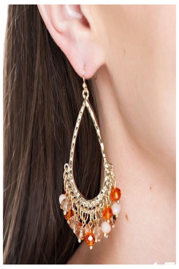Teardrop Beaded Boutique Earrings