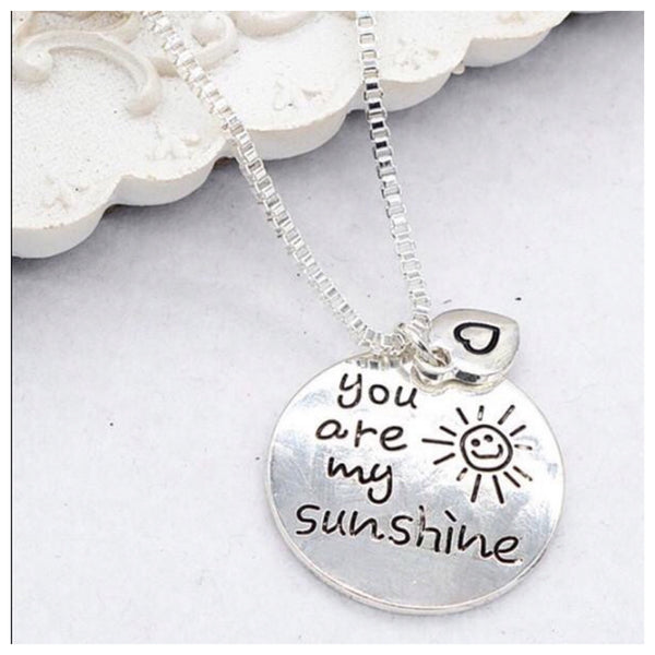 You are my Sunshine Silver Necklace