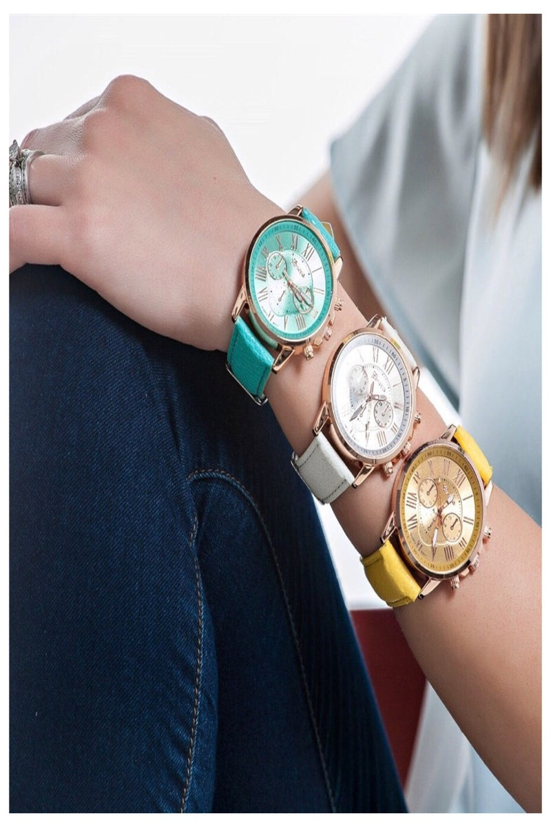 Colorful Boyfriend Watch Collection | 9 Colors