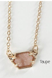 Short Stone Necklace | 7 Colors