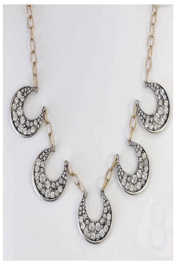 Lucky Crystal Horseshoe Statement Necklace