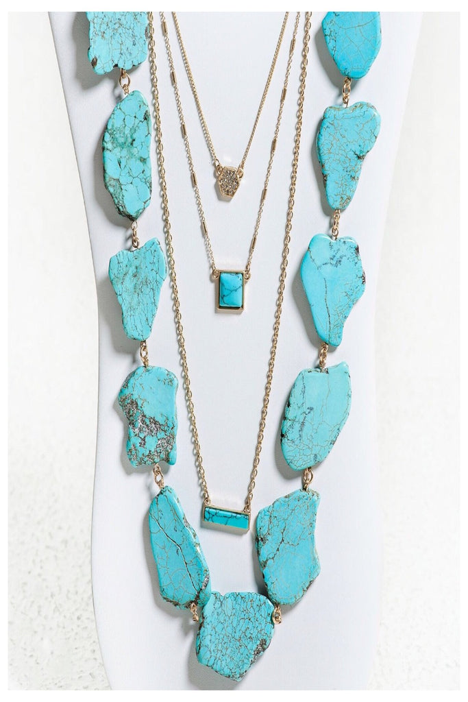 Stately Stone Layering Necklace | 2 colors