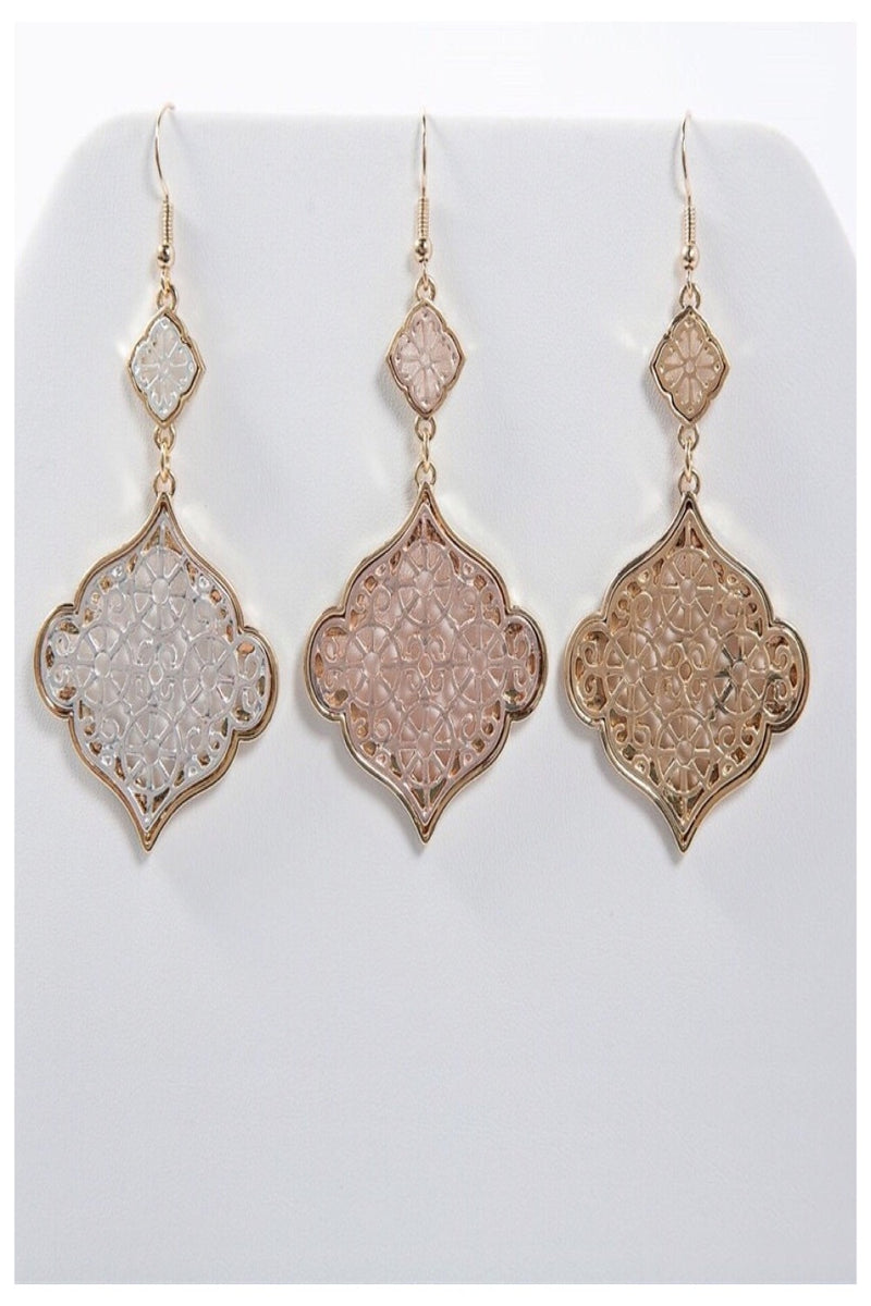 Chantilly Filagree Drop Earrings | 3 Colors