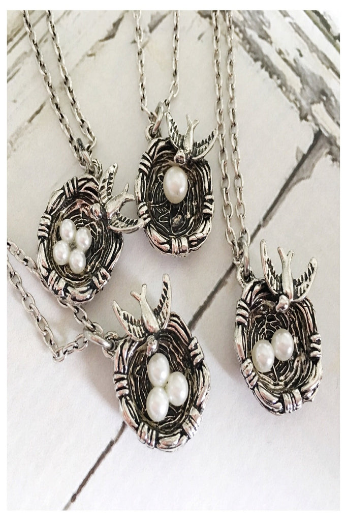 Mother Bird Nest Heirloom Necklace