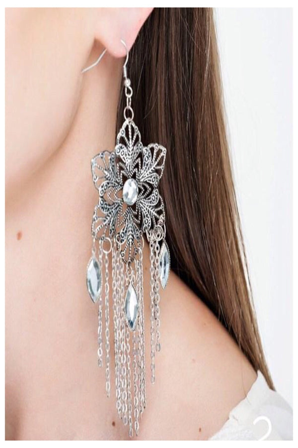 Flower Fringe Boutique Earrings