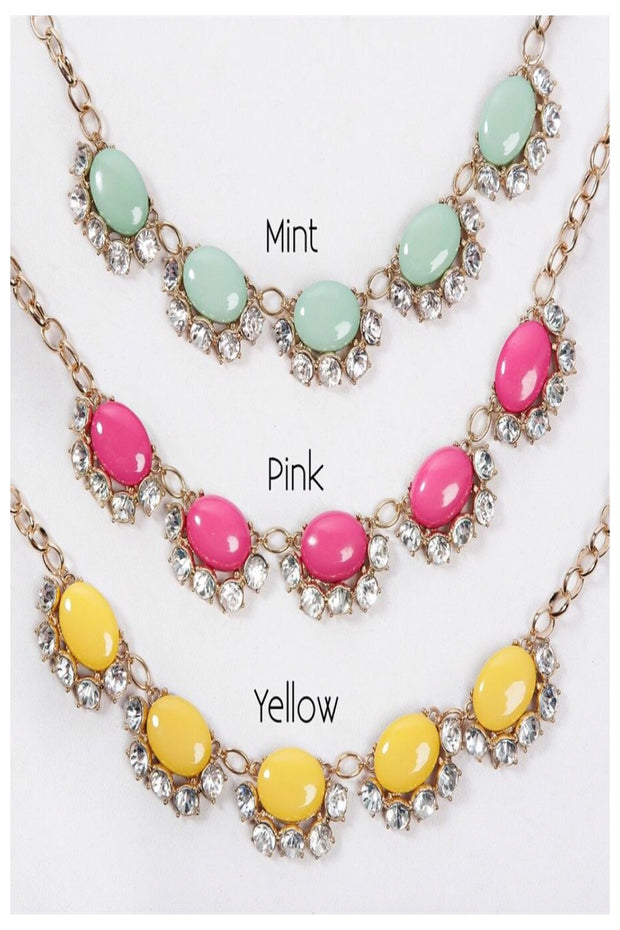 Rhinestone Bloom Statement Necklace
