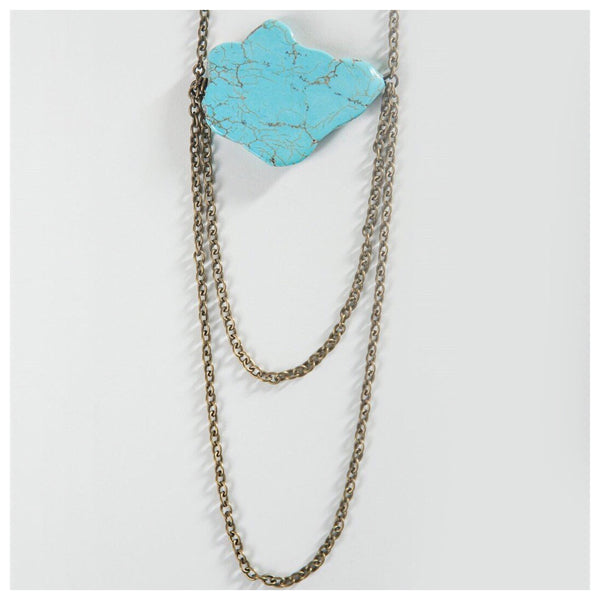 Single Stone Layered Necklace
