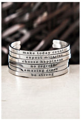 Skinny Mini Inspirational Bracelet Cuffs