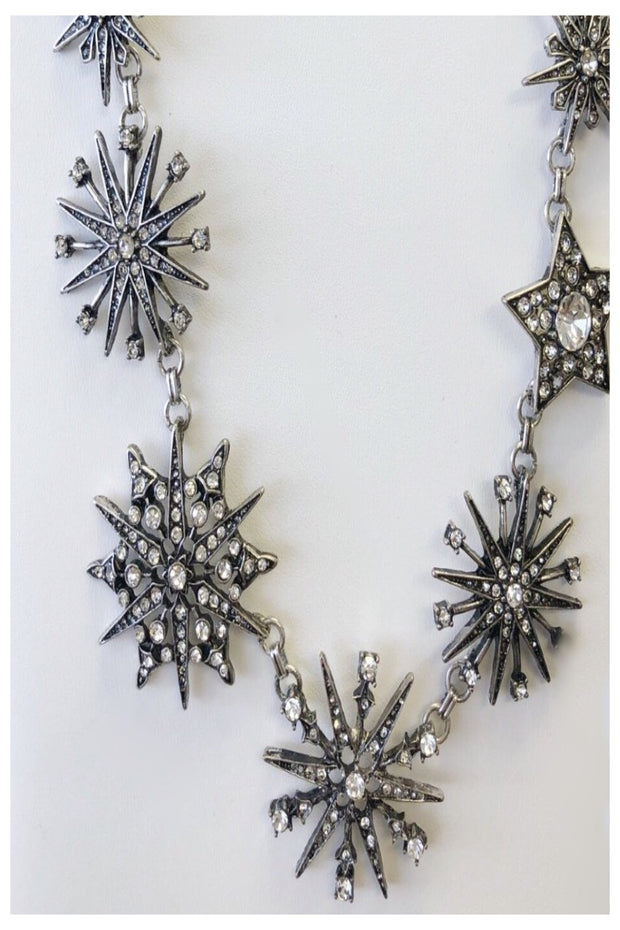 Sparkling Snowflake Necklace